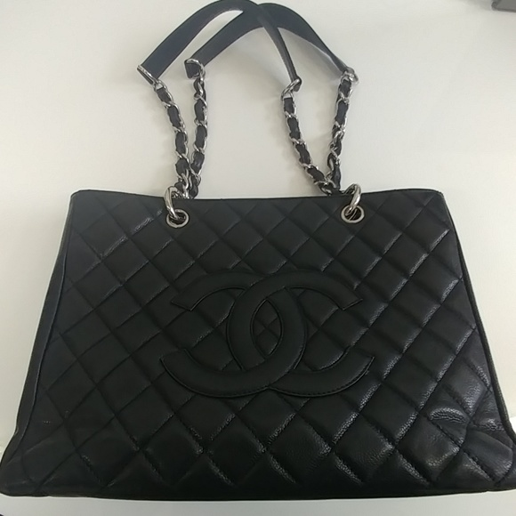 f1ff07bb1185 CHANEL Handbags - Chanel Grand Shopper Tote bag with silver chain